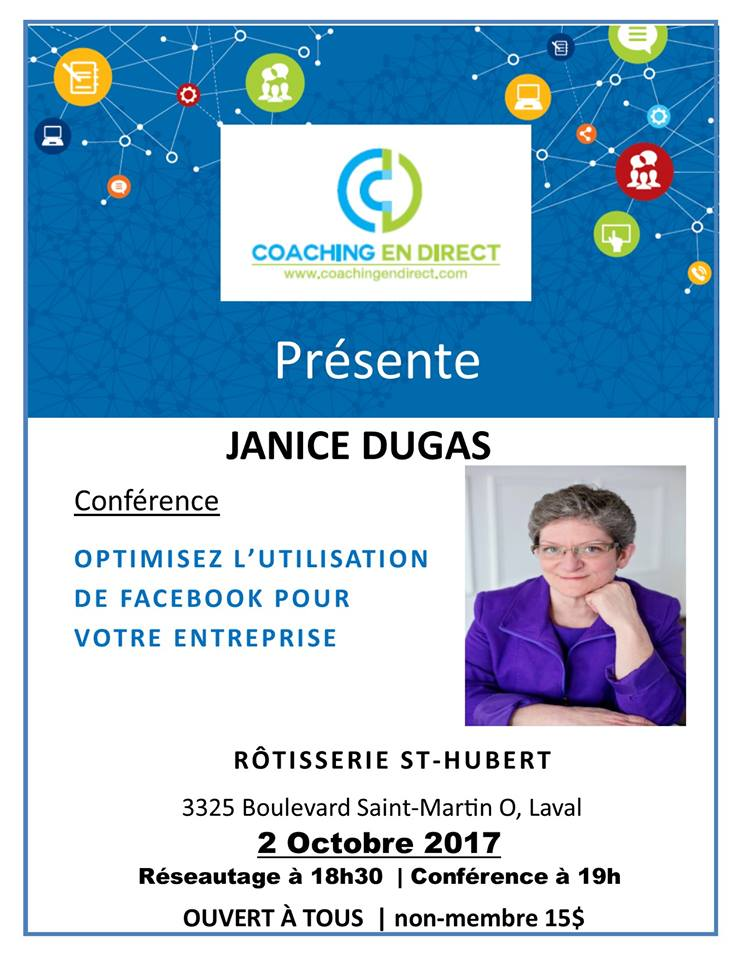 Janice Dugas Conference Laval