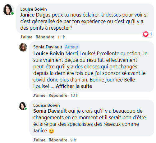 Facebook Algorithme 2021 Groupe Femme de Tete