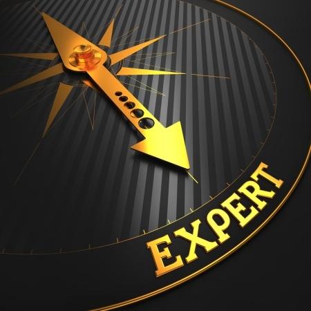golden arrow points to expert