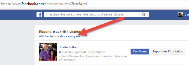 FB Invitations Envoyees