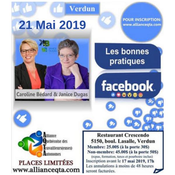 Formation Facebook Verdun Janice Dugas Caroline bedard