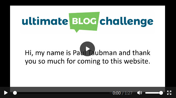 Ultimate Blog Challenge Video