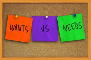 wants vs needs